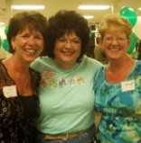 Kathy Wangler (center) in happier times