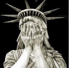 Lady Liberty Embarrassed