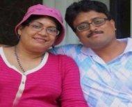 Dr Swetapadma Mishra and husband Arijit