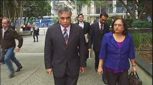Dr Jayant Patel and wife walking to court in Australia