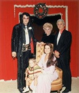 Elvis Presley, Priscilla and Lisa Marie