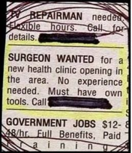 SURGEON WANTED AD