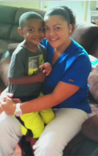 Nurse Zulma L Pabon and son