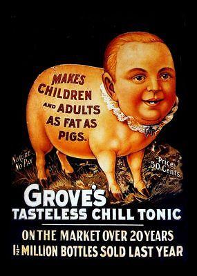 Vintage Drug Ad pigs